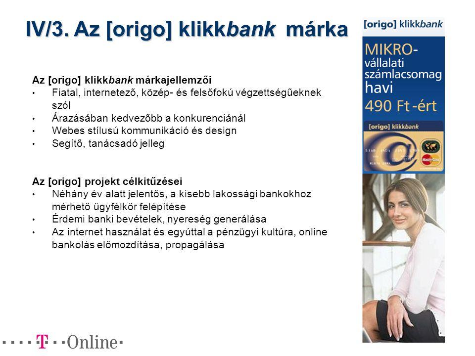 IV/3. Az [origo] klikkbank márka